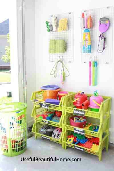 Keeping Kids Outdoor Toys Organized In The Garage Made Easy.