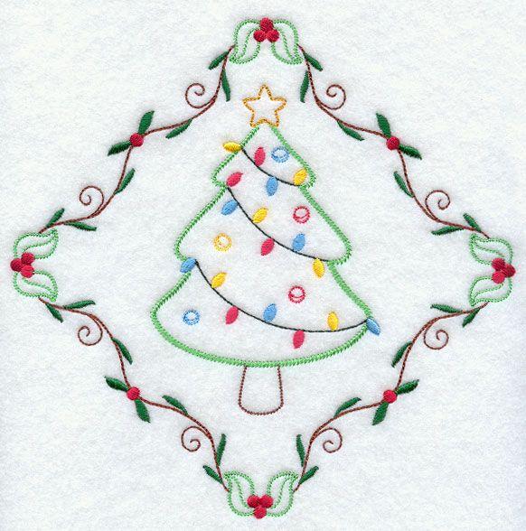 Vintage Christmas Tree Diamond Repinned By Rainydayembrdry Www Etsy Com Shop Rainyda Embroidery Designs Christmas Embroidery Patterns Embroidery Library Design