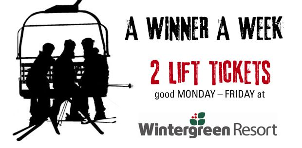 Enter for a chance at two weekday lift passes from Wintergreen Resort and a pair of Bolle goggles!