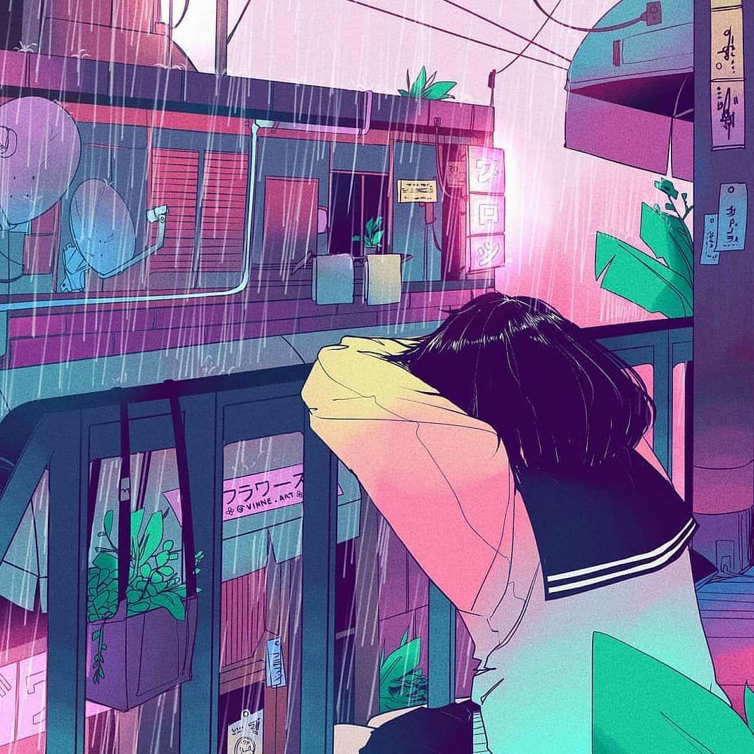 Tired Artist Vaporwave Art Aesthetic Art Anime Art