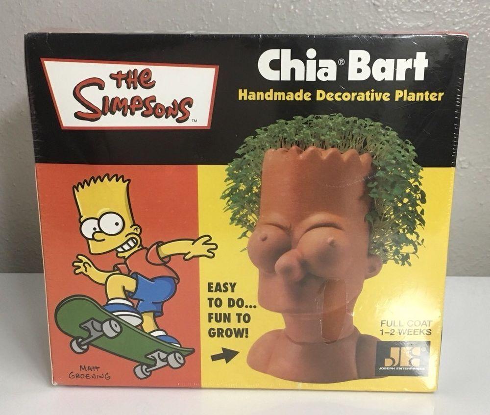 The Simpsons Chia Pet Bart Planter Collectible New Sealed Josephenterprises Chia Pet Decorative Planters Handmade Decorations