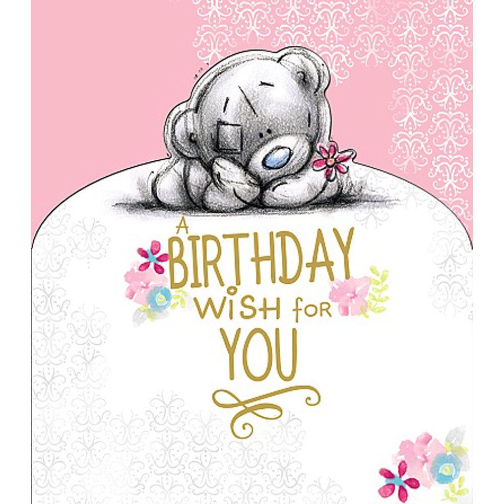 Birthday Wish For You Me To You Bear Card Bear Card Birthday Wishes Tatty Teddy