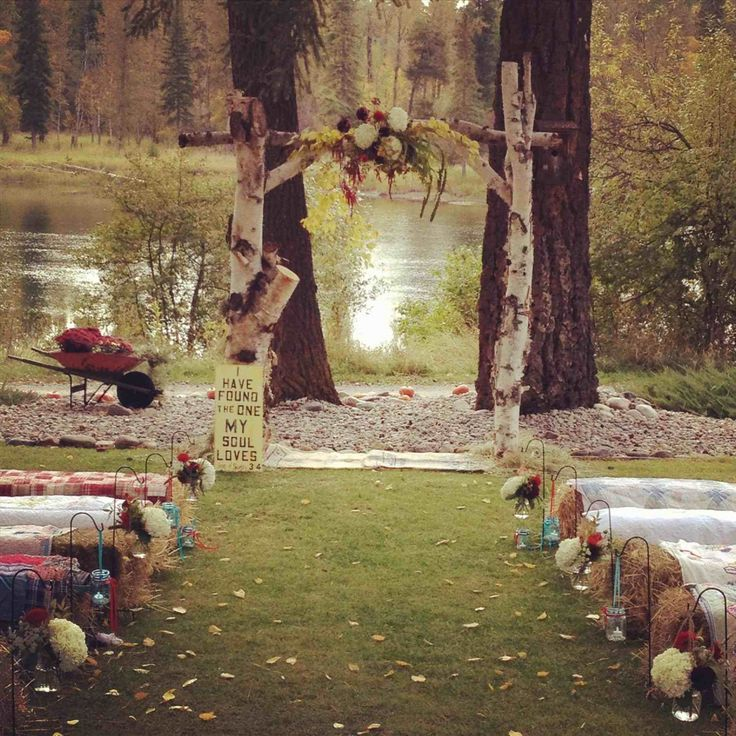 Sunflowers Rustic Fall Country Outdoor Wedding Ideas Arch