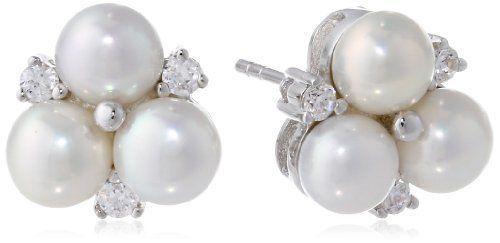 New-Bella-Pearl-White-Cluster-Earrings-Gift
