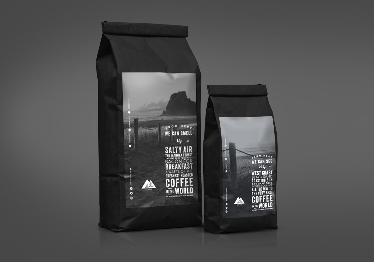 Mt Atkinson Coffee Roasters Coffee Packaging Coffee Roasters Coffee Bag Design
