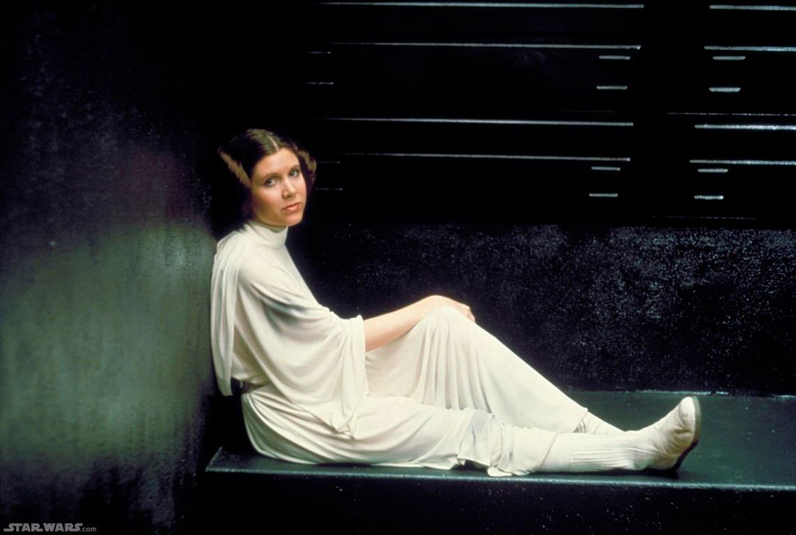 Princess in captivity, Leia Organa. Aren't you a little short for a Stormtrooper?