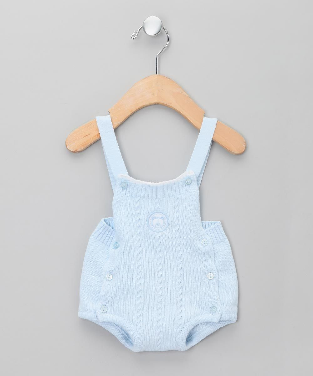 8f8e595f564c Dr Kid Baby Light Blue Knit Dungarees - Newborn & Infant | kids ...