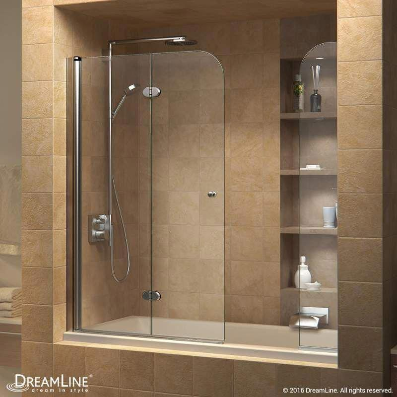 Aqua Lux 48 X 58 Hinged Frameless Tub Door Sliding Bathroom
