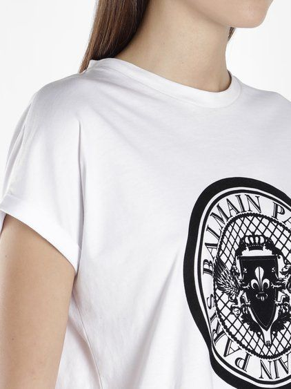 6a2f6fd5 BALMAIN . #balmain #cloth # | Balmain | Balmain, White cotton t ...