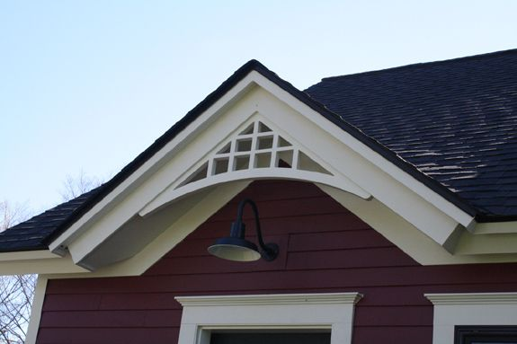 custom fypon gable pediment bracket haus pinterest