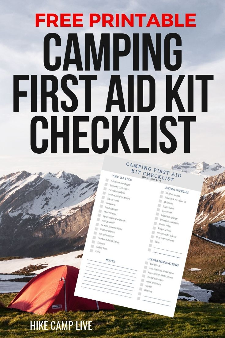 Now admittedly, camping first aid kits are not as exciting as GPS units or your new GoPro. Nevertheless, it is important to carry either a quality prepackaged first aid kit or a DIY first aid kit with you on every single outdoor adventure that you embark on.  This is an extensive list that covers almost any situation you would encounter while camping. Start with the camping first aid kit basics then build out your complete kit from there #firstaid