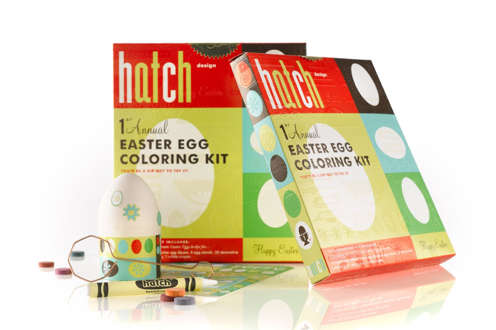 1st Annual Hatch Egg Coloring Kit, circa 2008
