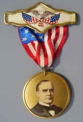McKinley 1900 President Badge | Primitive antiques ...