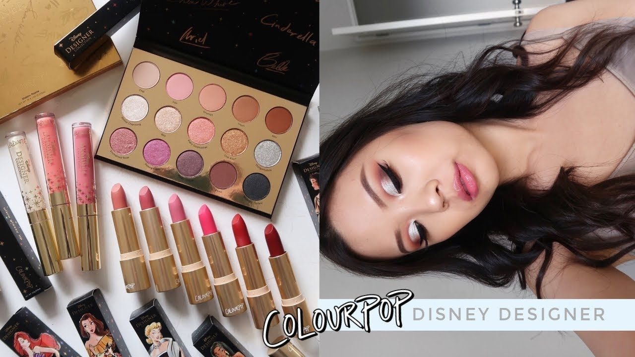 COLOURPOP X DISNEY DESIGNER COLLECTION ⋆ 3 Looks, Review, Comparisons + Swatches! - YouTube