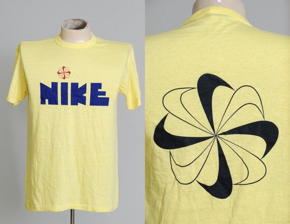 S Nike Pinwheel Block Letter T Shirt Rare Deadstock  Block