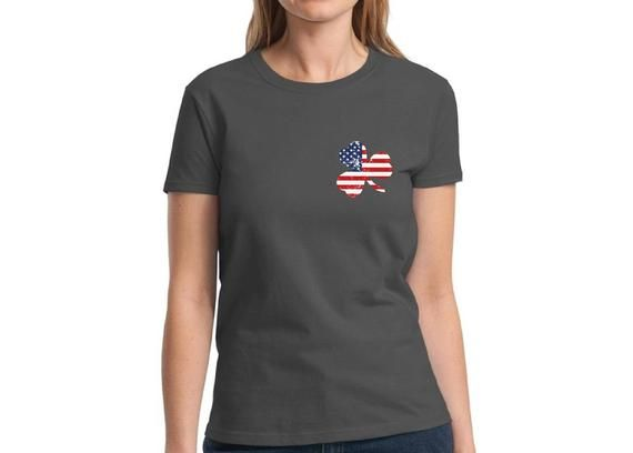 0a5e3756c U.S. Shamrock Tshirt St. Patrick s Day Shirts for Women Irish American  Pride Shirt Women s St