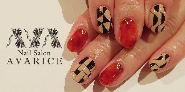 """Geometry art nails の画像 NailSalon AVARICE""""ネイルサロンアバリス""""のブログ"""