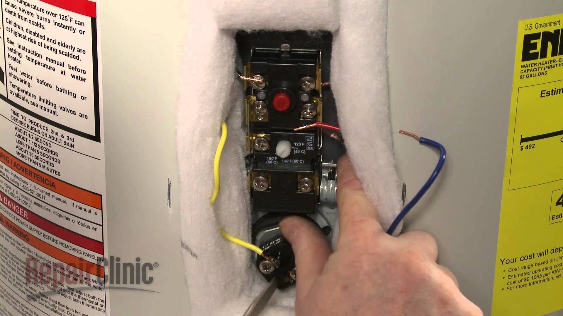 Water Heater Thermostat Replacement