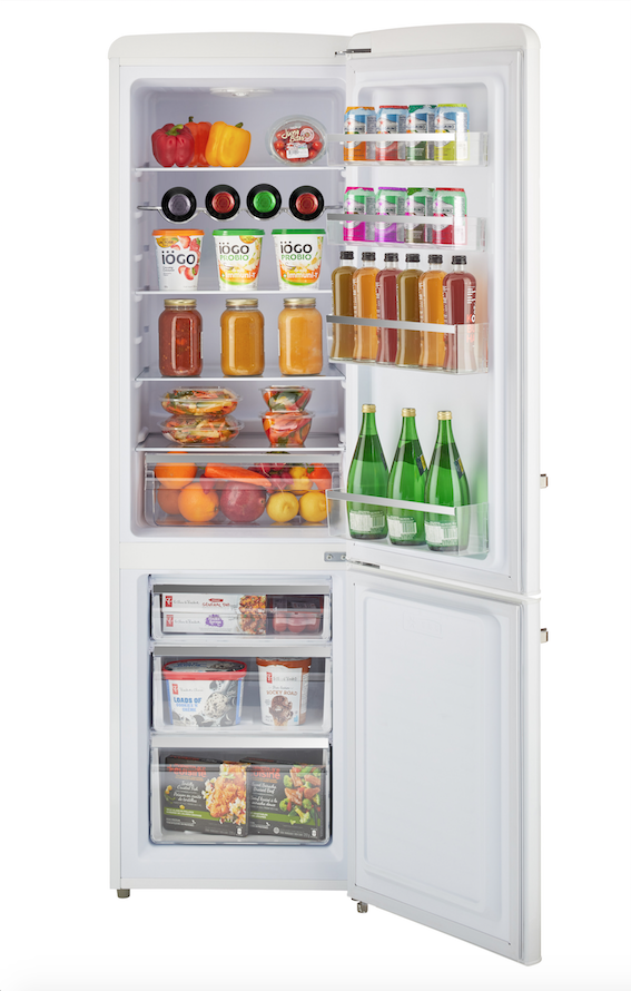 New Unique 10 Cu Ft 12 24v Dc Retro Solar Powered Fridge With Freeze The Cabin Depot In 2020