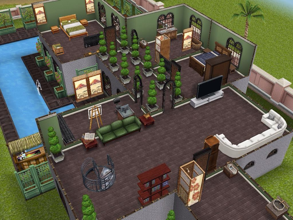 House 26 level 2 sims simsfreeplay simshousedesign