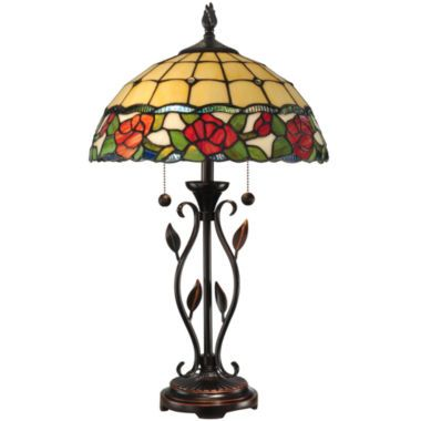 Dale Tiffany Rose Table Lamp Found At Jcpenney With Images