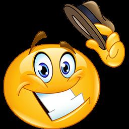 Tip My Hat Emoticon