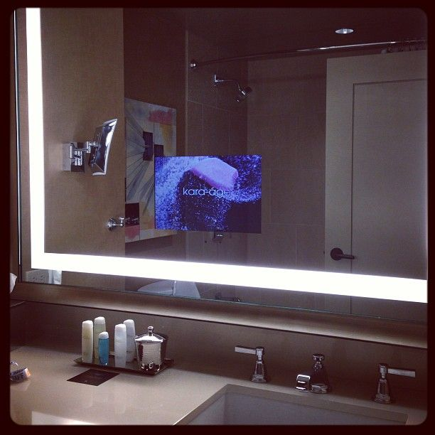 Love That Sherylizzzm S Photo I Need This In My Bathroom A Built In Tv In The Mirror Omni Bathroom Mirror Design Modern Bathroom Mirrors Modern Bathroom
