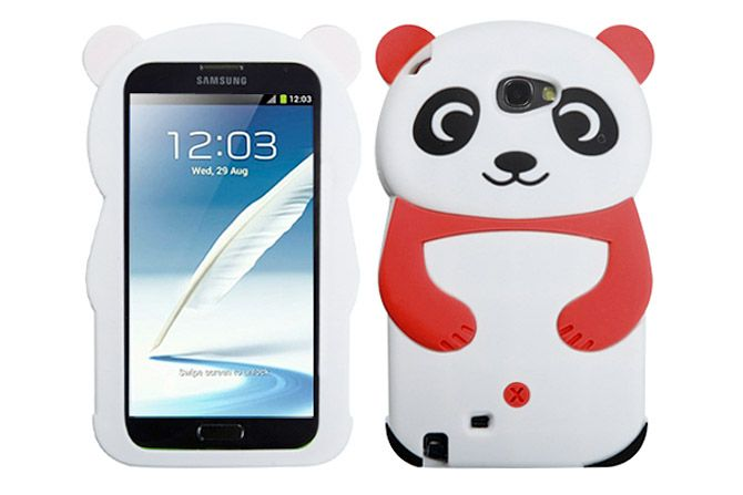 3D Cartoon Panda Soft Silicone Rubber Protective Cases for Samsung Galaxy Note 2 | Lagoo Tech