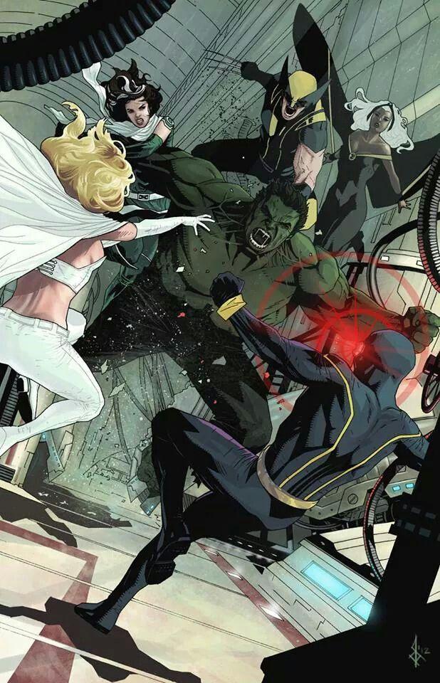 Xmen Amp Hulk Marvel Comics Art Uncanny Avengers Hulk Marvel