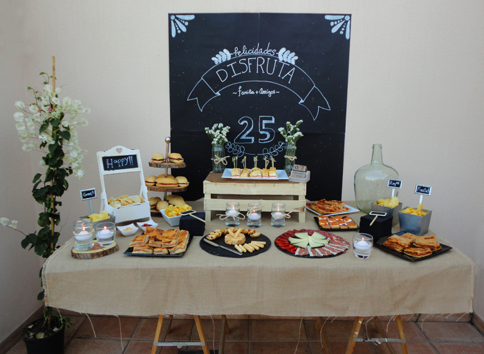 Mesa salada fiesta cumple 2 emma pinterest mesas - Mesa cumpleanos adulto ...