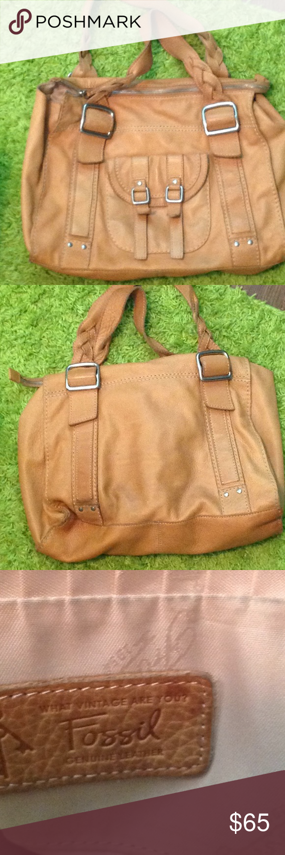 5c27208c58cd28 Fabulous Vintage Fossil Bag Love this bag. I just have too many. It's a big  soft leather bag with lots of pockets. It will even hold a laptop or tablet  and ...