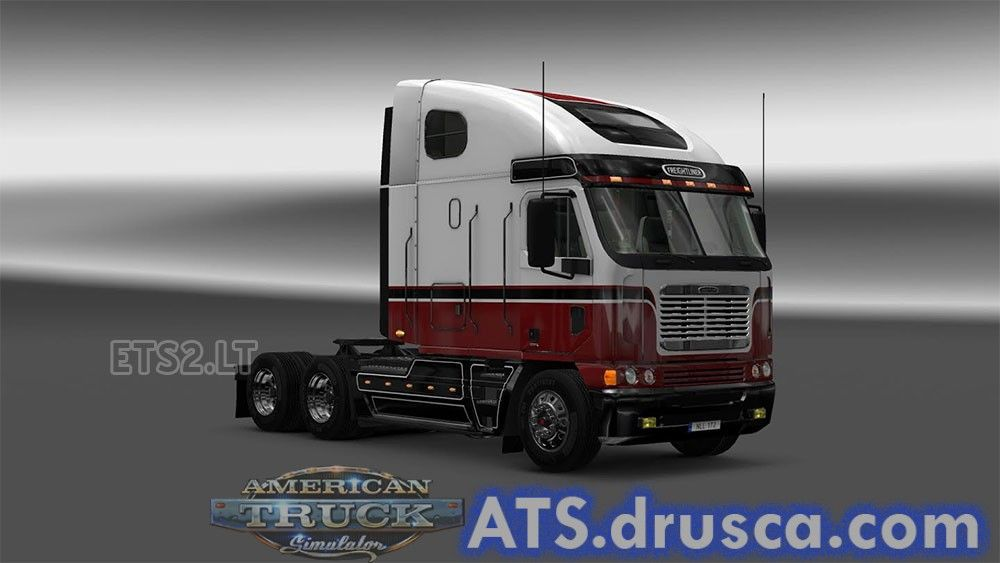 BRW skin for Freightliner Argosy | ATS mods | Ets 2 mods, American
