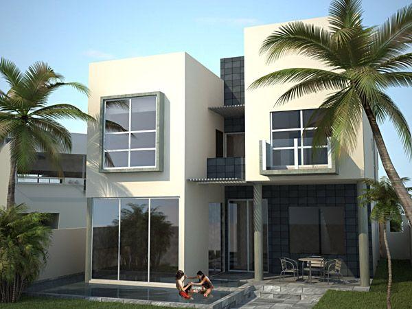 Fachadas de casas de una planta modernas dise o de - Disenos de casas modernas ...
