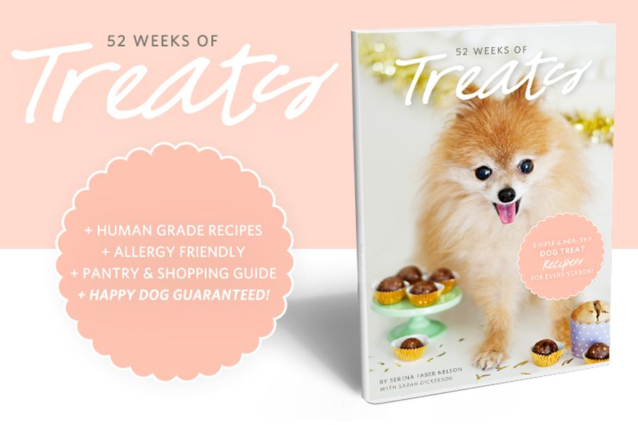 52 Weeks Of Treats Dog Treats Grain Free Dog Treat Recipe Book