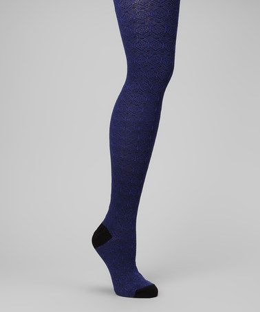 ef62891a7c Take a look at this Royal Blue Ornate Sweater-Knit Tights - Women by MeMoi  on  zulily today!