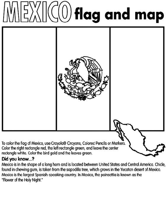 Mexico Coloring Page From Crayola Other Countries Available Too