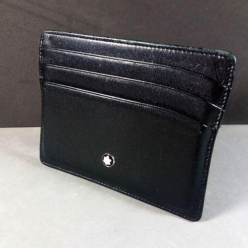 517975f8de Montblanc Meisterstuck Black Leather Pocket Credit Card Holder   For ...