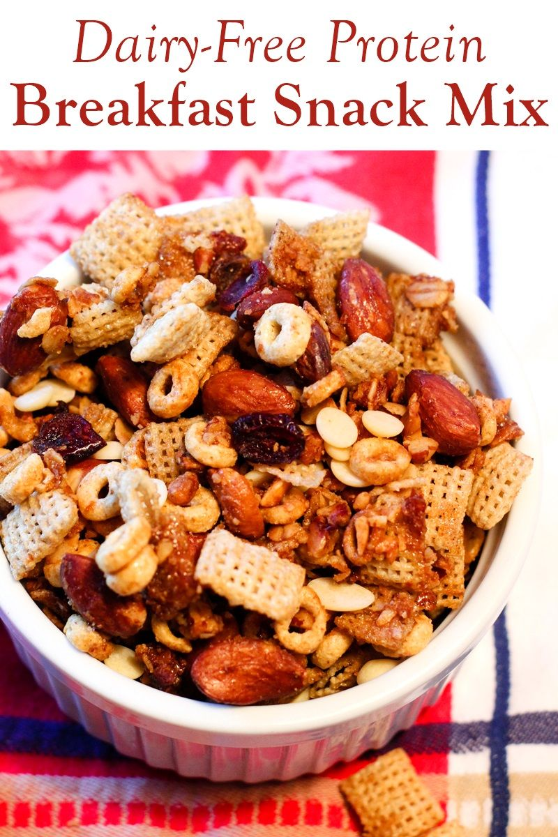 Breakfast Snack Mix Recipe Protein Packed Dairy Free Recipe Snack Mix Recipes Dairy Free Protein Chex Mix Recipes