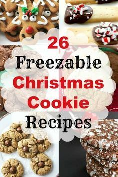 26 Freezable Christmas Cookie Recipes, make ahead Christmas cookies. #holidaydesserts