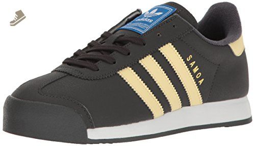 adidas Originals Women\u0027s Samoa W Fashion Sneaker, Dark Grey Heather/Easy  Yellow/White
