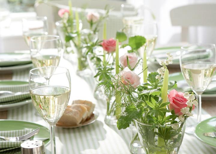 pinterest deco pacques | detalhe de hoje é uma mesa arrumada para o almoço com as flores ...