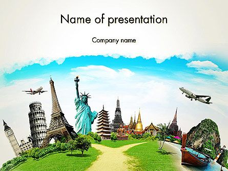 Nice Template With The Various Landmarks And Historical Monuments From All Over The World Will Be Perfect For Presentations F Around The Worlds Vacation Travel