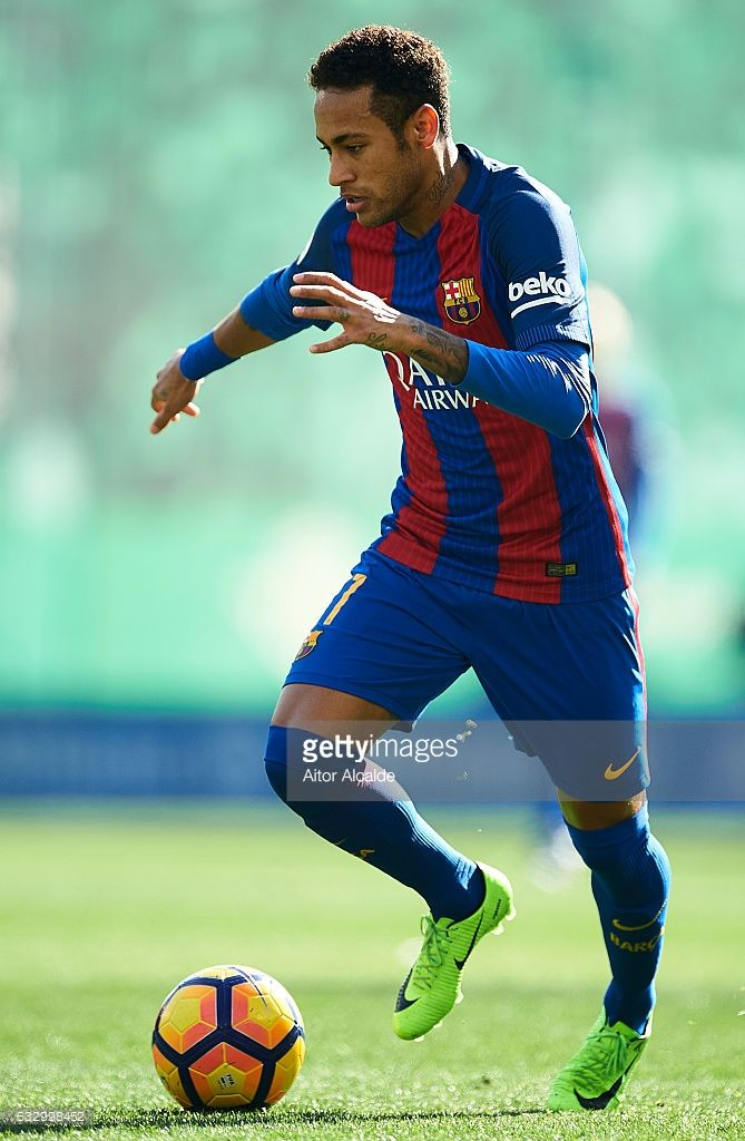 Neymar Jr of FC Barcelona in action during La Liga match ...
