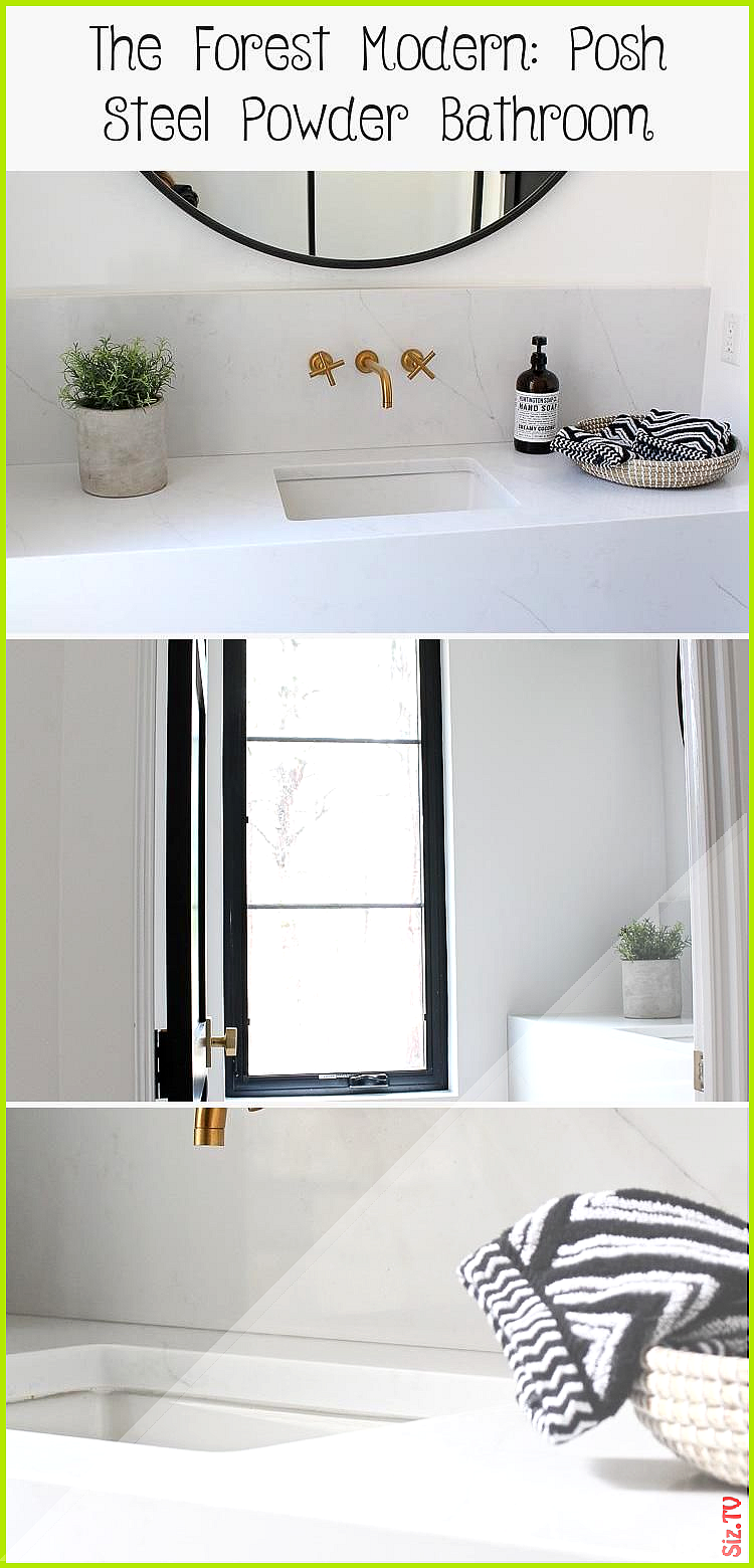 The Forest Modern Posh Steel Powder Bathroom The House Of Silver