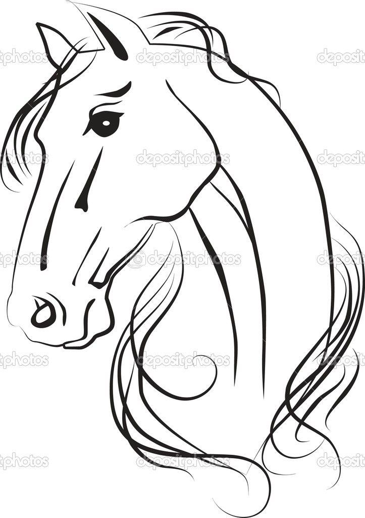 horse head   эскизы.зарисовки.   Pinterest   Pferde, Fräsen und ...
