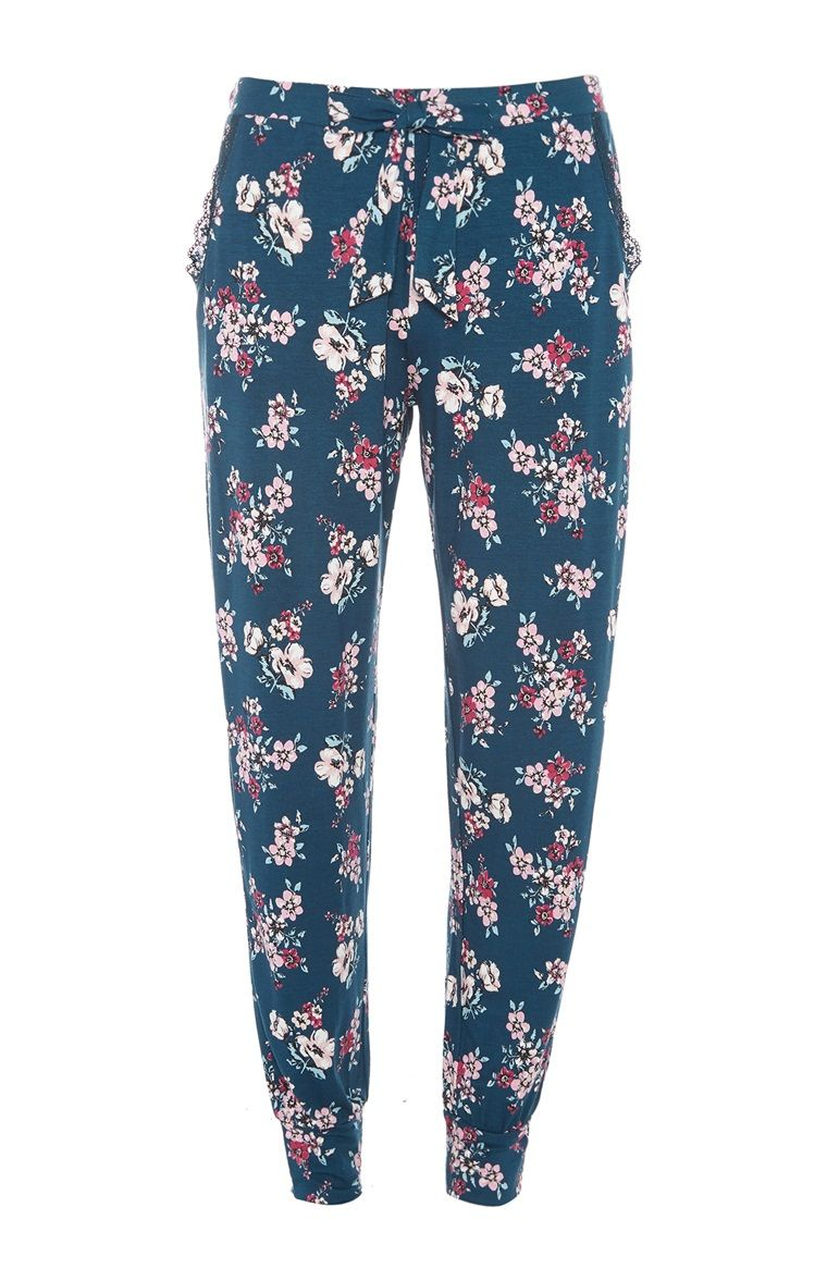 Primark Emerald Floral Pyjama Trouser Floral Pajamas