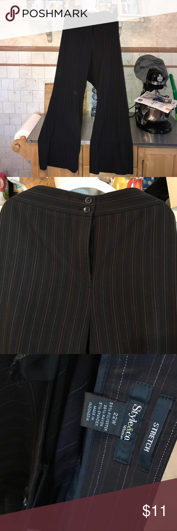 Style and Co dress pants Pin stripe dress pants GUC Style & Co Pants Straight Leg