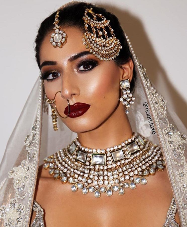 Dewy Makeup For A South Asian Bride With Images Asian Bridal