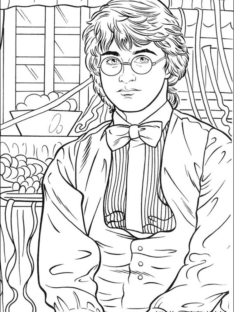 Harry Potter Coloring Pages Sorcerer Stone Portraits