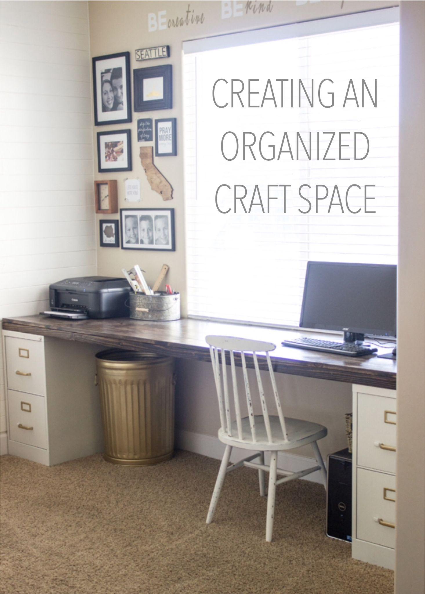 Creating an Organized Craft Space Diy file